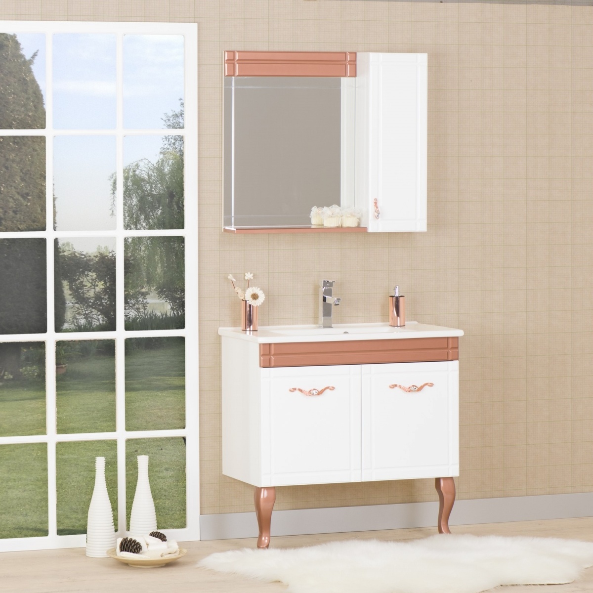 ERİZA SERIES | Kalay Bath furniture - wooden sink first and only ...