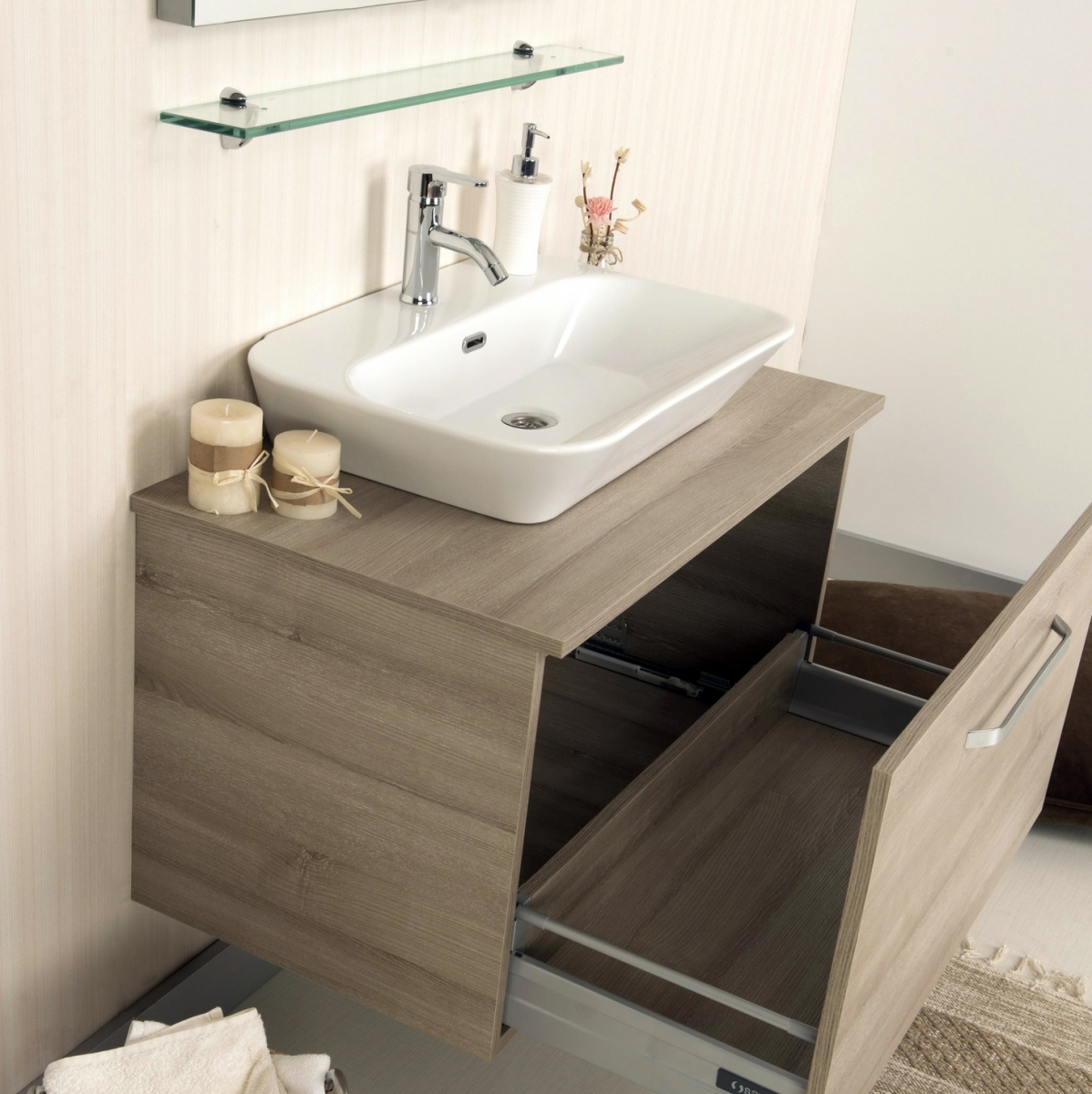 KARYA SERIES   Kalay Bath furniture - wooden sink first and only ...